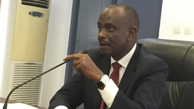 Dr Richard Sezibera, Minisitiri w'ububanyi n'amahanga w'u Rwanda, ubwo yagiranaga ikiganiro n'abanyamakuru kuri uyu wa kabiri