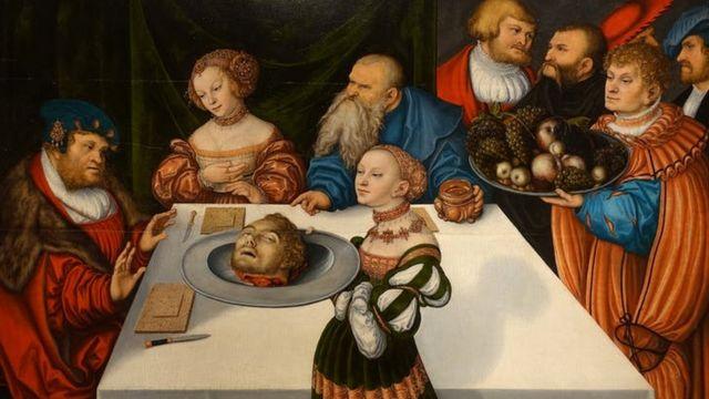 Herod's Banquet, by Cranach the Elder (1531), Hartford, Connecticut.