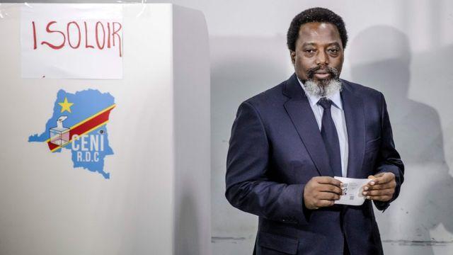 Joseph Kabila voting