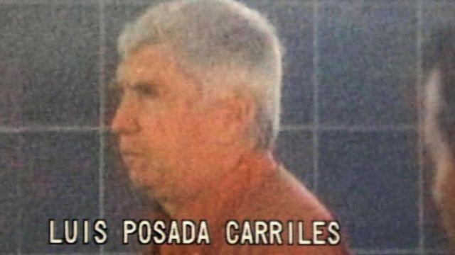 Foto de Posada Carriles cuando fue arrestado en Panamá