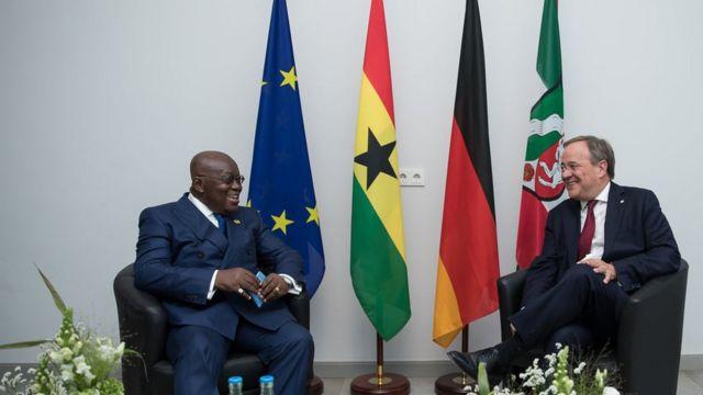 Präsident von Ghana.  Akufo Ado und Ministerpräsident von Nordrhein-Westfalen
