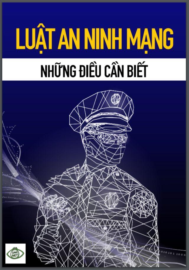 """Ảnh bìa cuốn """"Luật An ninh mạng - Những điều cần biết"""" của nhóm Save NET"""