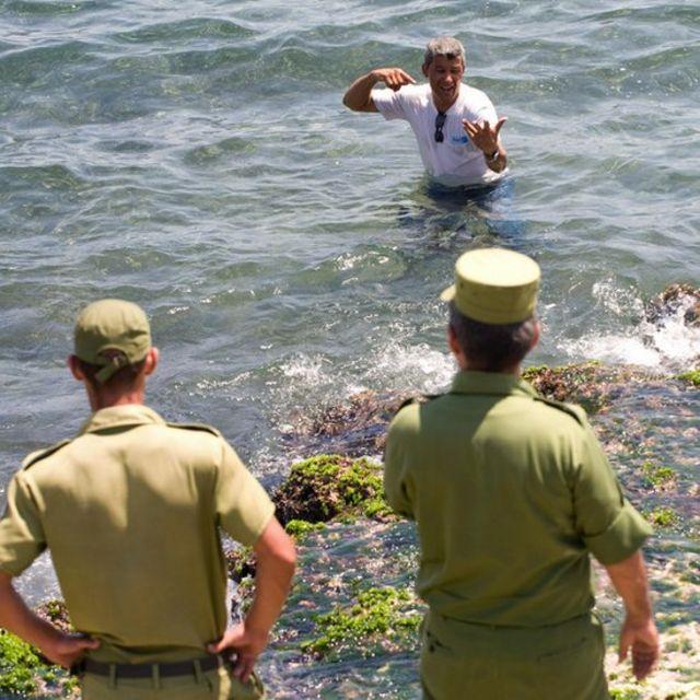 Un cubano falla en su intento de dejar la isla.