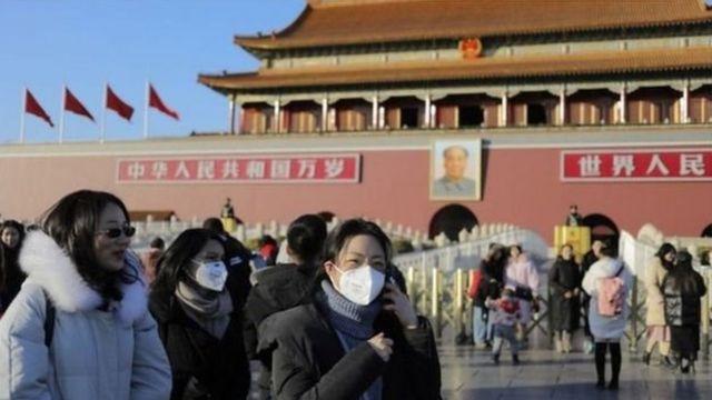Awọn eeyan to lo ibomu ni ilu Beijing lorilẹede China