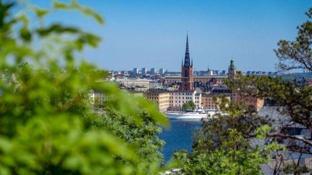 Vista de cidade sueca