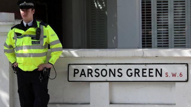 Londra'daki Parsons Green metro istasyonunda