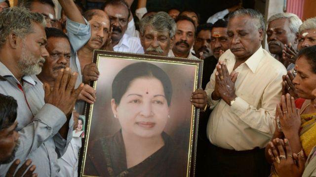 """Beaucoup d'Indiens se réfèrent à Jayalalitha comme """"Amma"""", leur mère."""