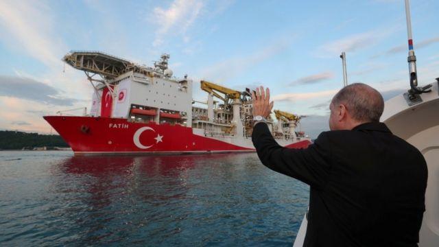 Madaxweyne Erdogan wuxuu marar badan difaacay xuquuqda uu Turkiga u leeyahay kheyraadka ku jira bariga badda Mediterranean-ka