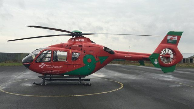The Welsh air ambulance service has been operating for 15 years, as David Maxwell reports