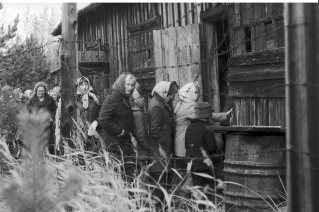 苏维埃时代,单位组织上岛参观