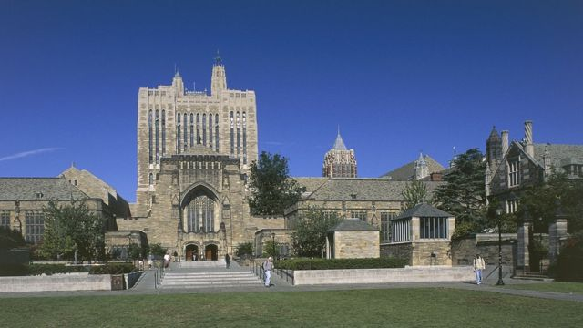Yale University Library, New Haven (file picture)