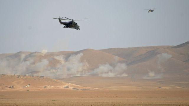 Российские вертолеты в Сирии