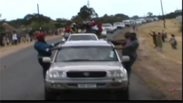 Zambia's Opposition leader Convoy
