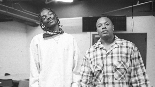 Снуп Дог і Dr. Dre на врученні музичної премії в Нью-Йорку, 1995 рік