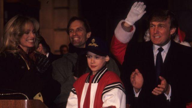 Donald Trump y Macaulay Culkin en 1991