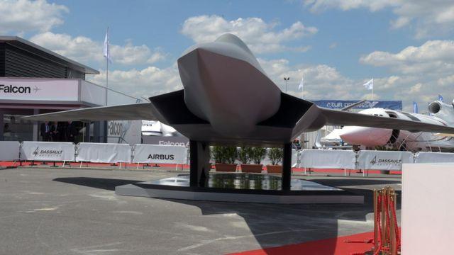 Макет истребителя, который станет компонентом FCAS, показали на авиасалоне Ле Бурже в 2019 году