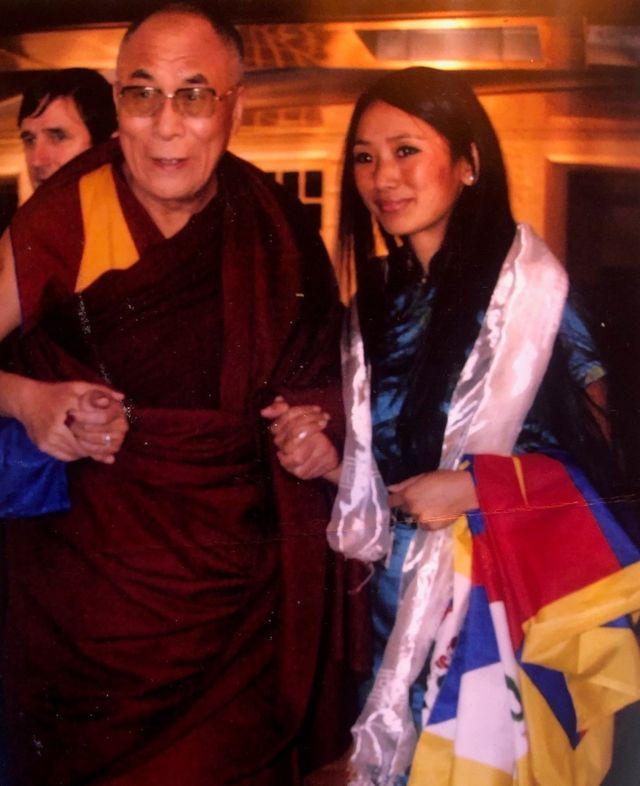 Dalai Lama with Reka Gawa