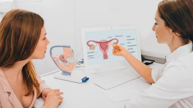 Mulher no ginecologista