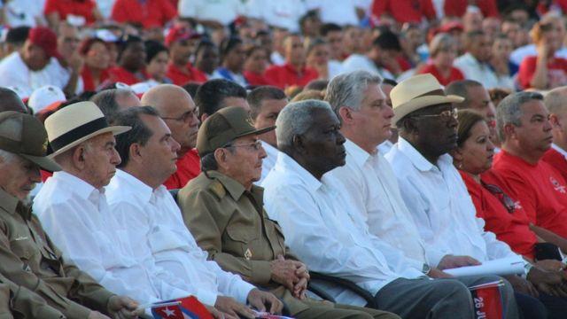 Raúl Castro en la celebración por el 26 de julio