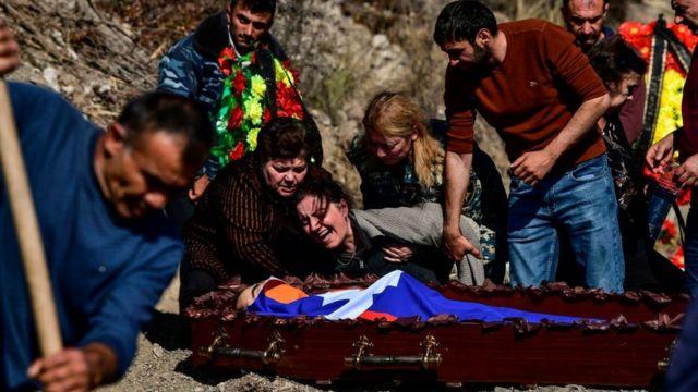 Похорон військового Нагорного Карабаху