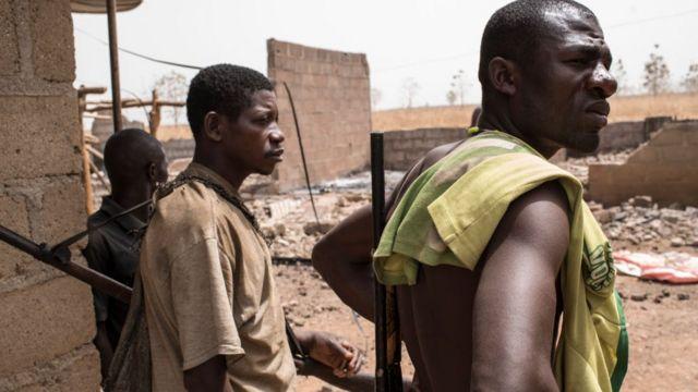 Des membres d'un groupe d'autodéfense à Bakin Kogi dans l'Etat de Kaduna (illustration).