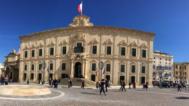 Sede del gobierno en Valletta