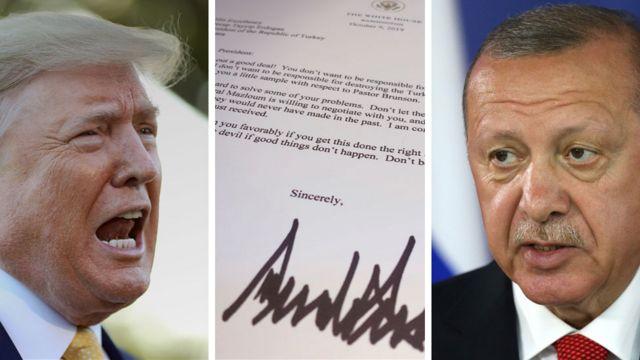 Trump'tan Erdoğan'a mektup: Aptallık etme, gel anlaşalım, seni sonra arayacağım - BBC News Türkçe