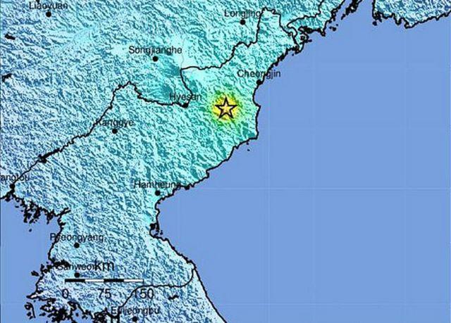 USGS menyebut lokasi gempa terletak dekat situs pengujian Punggye-ri.