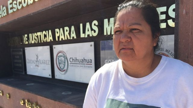 Norma Ortega, madre de Idalí Juache Laguna, una de las víctimas del Valle de Juárez, un caso emblemático que marcó a la ciudad.