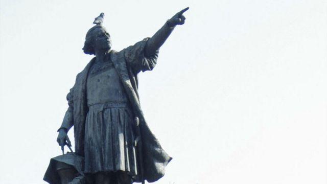 Estatua de Colón en Santo Domingo