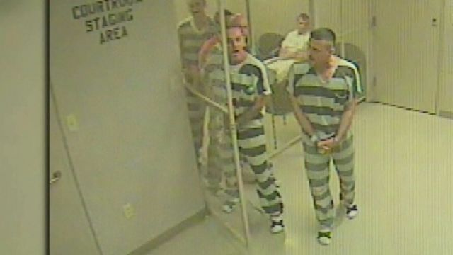 Inmates breaking out of their cell