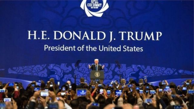 Tổng thống Donald Trump phát biểu tại Hội nghị APEC tháng 11/2017