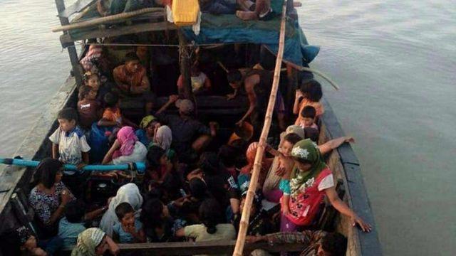 စက်လှေနဲ့ ရောက်လာခဲ့ကြတဲ့ စစ်တွေစခန်းက မွတ်စလင်ဒုက္ခသည်တွေ