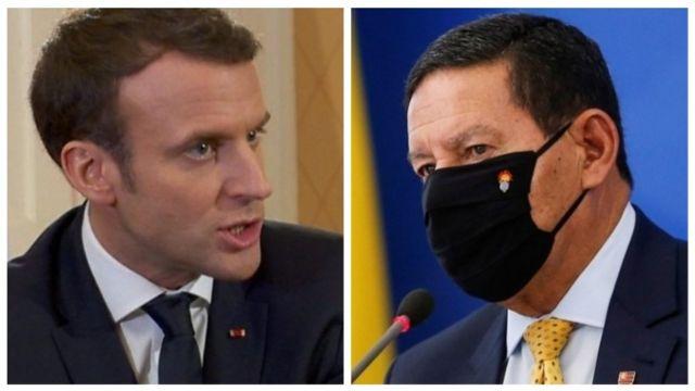 Emmanuel Macron e Hamilton Mourão