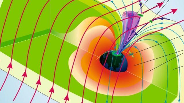 Imagem de um furacão espacial