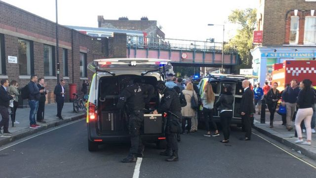 Police outside Parsons Green