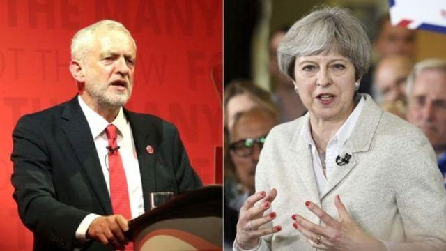 ترزا می نخست وزیر و جرمی کوربین