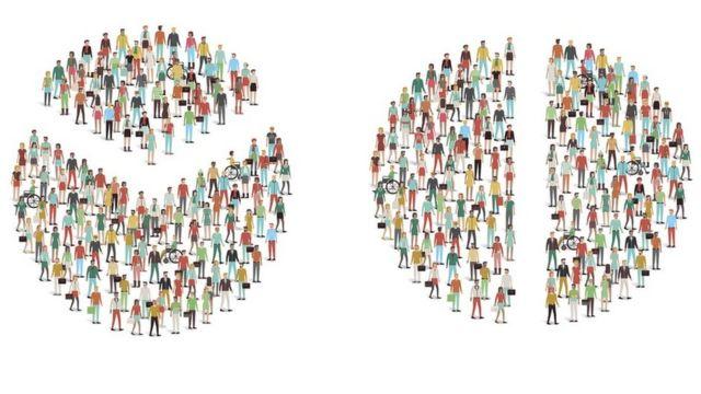 Social divisions, illustration