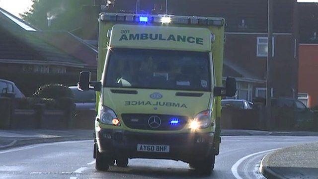 Ambulance on street