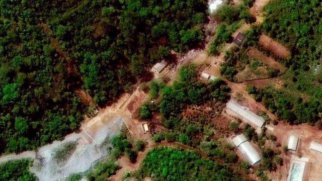 5월 23일 촬영된 풍계리 핵실험장 위성 사진