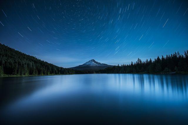 Polaris over Mount Hood by Garrett Suhrie