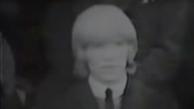Black and white image of David Bowie