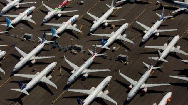 Kompanyi zitandukanye kw'isi zarahagaritse ingendo z'indege za Boeing 737 Max