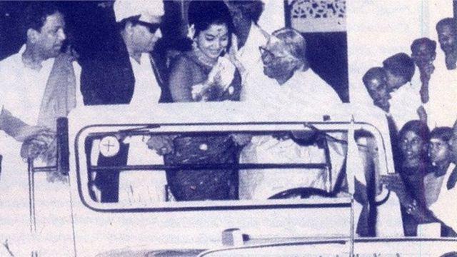 एमजी रामचंद्रन, जयललिता
