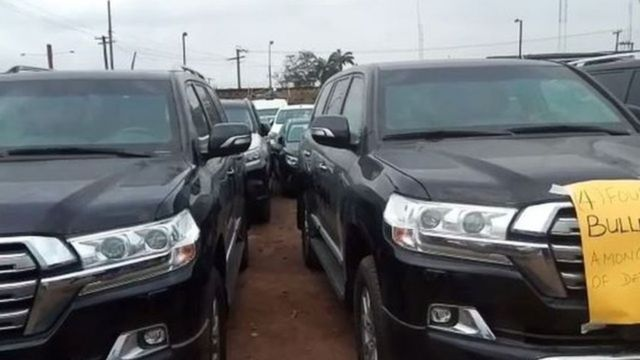 Vehicle wey Nigerian Customs Service seize for Lagos