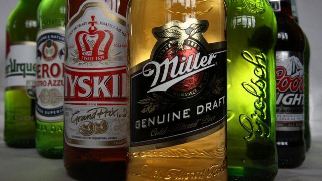 زجاجات بيرة