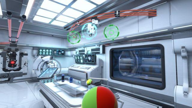 Cena de um dos jogos futuristas da Neurable