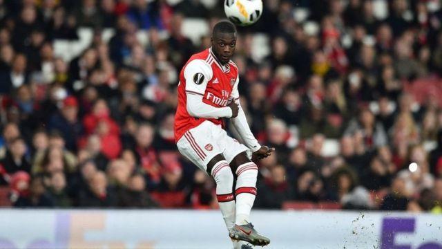Nicolas Pepe score free-kick for Arsenal