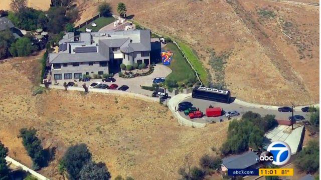 ブラウン容疑者宅を空撮したABCテレビ系列局の映像