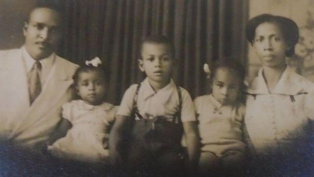 Natalino, Claudete, Cláudio, Cleuza e Guiomar